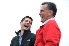 Mitt Romney and Paul Ryan political laughter