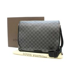 Louis Vuitton Renzo Damier Graphite Cross body bags Black Canvas N51213