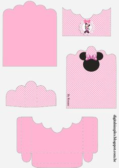Minnie in Pink: Free Printable Candy Packages Support. Disney Printables, Party Printables, Free Printables, Toodles Mickey Mouse, Minnie Mouse Party, Barbie Paper Dolls, Gift Wraping, Pink Minnie, Diy Paper