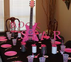Rock Star Party Decoration