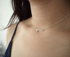 Personalized Name Jewelry  Tiny Name Necklace  Baby Girl