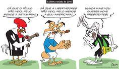 Charge do Dum (Zona do Agrião) sobre a última rodada do Brasileirão (11/12/2016) #Charge #Dum #Futebol #Galo #Atlético #América #Coelho #Cruzeiro #Brasileirão #CampeonatoBrasileiro #HojeEmDia