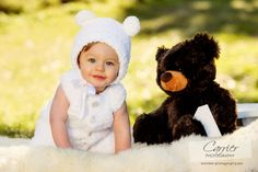 Made to Order Bear Hug jumper and hat as by NefertariCrafts, $65.00