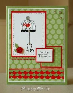 Stampin' Up! Card  by Georgeann Manning at 'Me' Time
