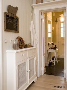Narrow hallway cabinet