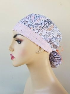 Your place to buy and sell all things handmade Surgical Caps, Scrub Caps, Caps For Women, New Print, Hat Making, Ponytail, Scrubs, Cotton Fabric, Crochet Hats