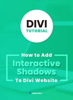 In this tutorial we will show you how to add an interactive shadow to your Divi website.js makes it easy for you to add cool shadows to texts and objects with just a few lines of code!