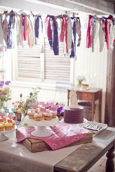 672 by styledcreative, via Flickr - love the fabric garland