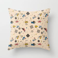 Memphis Inspired Pattern 9 Throw Pillow by Season of Victory - $20.00 design