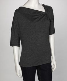 Graphite Knot Top ---- an assymetrical top is another great eye catching detail