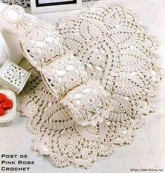 Crochet and arts: napkin Crochet Doily Rug, Crochet Squares, Love Crochet, Filet Crochet, Vintage Crochet, Crochet Yarn, Crochet Patterns, Crochet Home Decor, Crochet Crafts