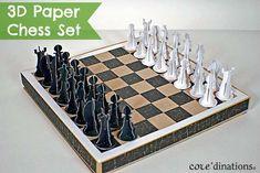 DIY 3D Paper Chess Set