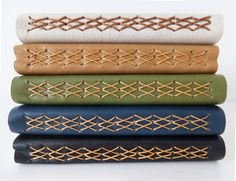 Leather Journal Leather Notebook    ecofriendly by peonyandthistle