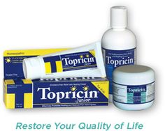 We love Topricin homeopathic topical pain relief to use on our child.