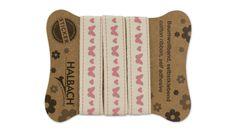 """Baumwollband, weiß, selbstklebend, """"Schmetterling"""", 16 mm, 1 m"""