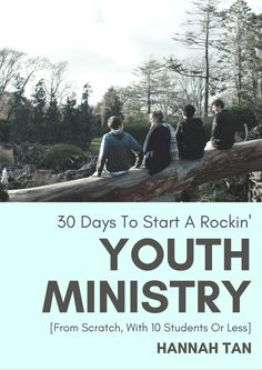 EBook pre-orders now open: 30 DAYS TO START A ROCKIN YOUTH MINISTRY. Get started on your journey to having a rockin' Youth Ministry when you've only got a handful of students! We've got you covered with everything from writing your vision to building relationships, from fun and food to budgets and planning and parents.