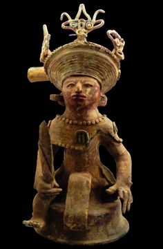 Statuette ''brûle-encens'' figurant Yax K'uk' Mo' - Site Maya de Copan (Honduras) - Photo University of Pennsylvania Museum of Archaeology and Anthropology