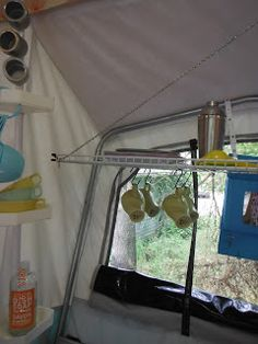storage ideas for tent trailer. #roadtrip