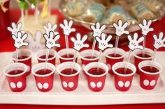Mickey Mouse inspired treats from a Colorful Mickey Mouse 1st Birthday Party at Kara's Party Ideas. See it all at karaspartyideas.com!