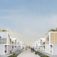 """Student Works: """"Townization"""", a new Chinese urbanization paradigm from the GSD Social Housing Architecture, Architecture Collage, Architecture Visualization, Architecture Graphics, Urban Architecture, Architecture Drawings, Photoshop, External Render, Arch House"""