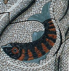 Detail of Fishy swirl mosaic, by Maggy Howarth. www.maggyhowarth.co.uk