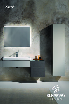 The Xeno² collection's basin and furniture by Keramag Design UK. Find more at: http://www.keramagdesign.com/