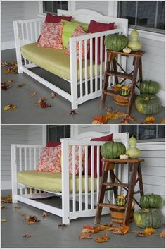Amazing Interior Design 10 Brilliant Ways to Repurpose Old Cribs Furniture, Home Projects, Redo Furniture, Crib Bench, Old Cribs, Repurposed Furniture, Cribs Repurpose, Cribs, Diy Crib