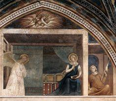 Annunciazione (1340) affresco - Lippo Memmi - Collegiata di Santa Maria Assunta, San Gimignano