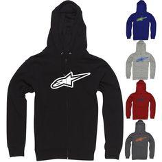 2014 Alpinestars Inverse Astar Zip Up Casual Adult Mens Warm Sweatshirt Hoodies | eBay