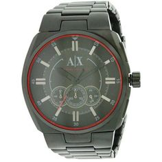 ec5640d6871 Armani Exchange Black Stainless Steel Mens Watch AX1801