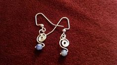 Check out this item in my Etsy shop https://www.etsy.com/listing/462712557/sodalite-and-spiral-dangle-earrings