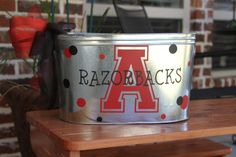 Custom Metal Beverage Tub/ Bucket Arkansas by 2KrazyChicks on Etsy, $30.00