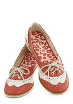 Amalgam of the Year in Coral | Mod Retro Vintage Flats | ModCloth.com