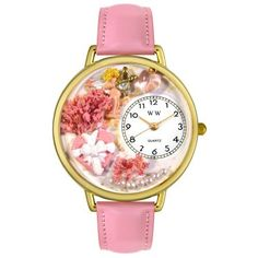 Whimsical Watches Unisex G1220024 Valentine's Day Pink Leather Watch Whimsical Watches. $40.99. Pink Italian leather strap. Gold-tone stainless steel case; case diameter: 42 mm. Perfect for gifts and occasions!. Precise, high-quality Japanese-quartz movement. Valentine's day pink theme dial. Save 32%!
