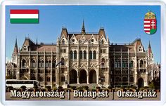 $3.29 - Acrylic Fridge Magnet: Hungary. Budapest. View of Hungarian Parliament Building