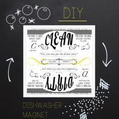 DIY Clean & Dirty Dishwasher Magnet