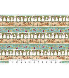 Christmas Cotton Fabric-Christmas In Stripes Metallic