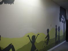 Kids Silhouette Mural, by RLR