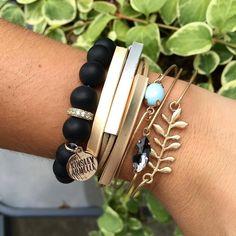 #Repost @alishaaa31  I just can't get enough of this gold and silver bracelet from @kinsleyarmelle  . . . . . #kinsleyarmelle #jewelrygram #gemstones #whosaysyoucantweargoldandsilvertogether #goldandsilver #armcandy