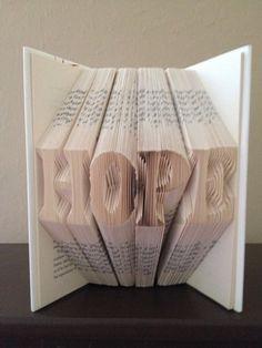 Folded Book Art Letters - Unique Gift