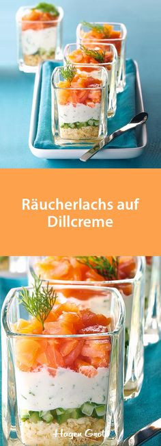 Brunch Recipes Smoked salmon on dill cream Party Finger Foods, Snacks Für Party, Carta Restaurant, Party Buffet, Brunch Party, Smoked Salmon, Dill Salmon, Antipasto, Cream Recipes