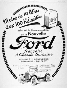 42 best vintage car ads images car advertising vintage ads Old Fender Skirts for Cars 1924 ford model t original vintage french advertisement the model t averaged 100 kilometres on