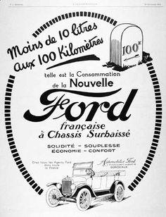 42 best vintage car ads images car advertising vintage ads 1970 Bentley Sedan 1924 ford model t original vintage french advertisement the model t averaged 100 kilometres on