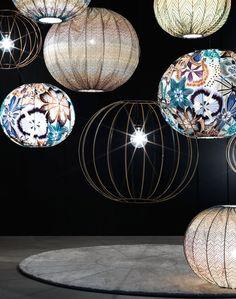 Fabric pendant #lamp BUBBLE by Missoni Home @missonihome