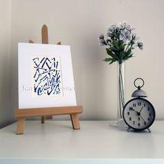 Marks - Original Abstract Ink Painting by Karolina Gassner