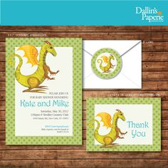 Dragon baby shower invitations chalkboard sparky boys boy party dragon baby shower invitation thank your card labels diy printable customized filmwisefo Images