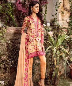 Get Ready To Buy Pakistani Chiffon Suits MIna Hassan at a best Prices Only at Our Online Store Kabir Collections.for more enquiry contact us on our website:www. Patiyala Dress, Designer Salwar Suits, Pakistani Suits, Party Wear, Orange Color, Patiala, Salwar Kameez, Kimono Top, Chiffon