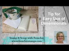 Stamp & Scrap with Frenchie: Tip with Dimensionals, Easy Peel.