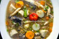 Fish Broth is a delicately flavored, traditional Trinidadian soup made with fish, various vegetables including root veggies, garlic, herbs ...