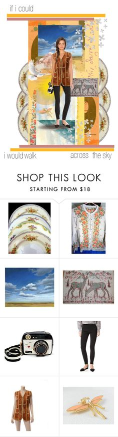 """""""if i could i would walk across the sky #etsyevolution"""" by seasidecollectibles ❤ liked on Polyvore featuring Noritake, Grandin Road, Betsey Johnson, T By Alexander Wang, Dot & Bo, vintage, etsyevolution and specialts"""